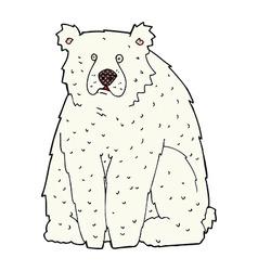 Comic cartoon funny polar bear vector