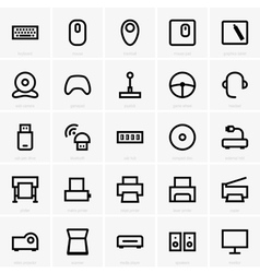 Computer peripheral icons vector image