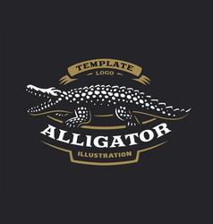 Crocodile logo - alligator vector