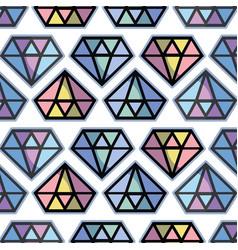 Cute diamond luxury accessory gem background vector
