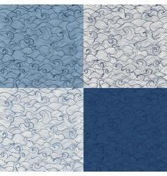 Doodle marine waves vector image vector image