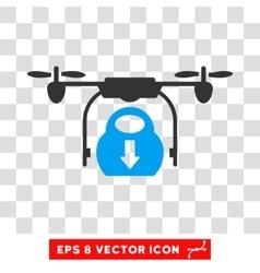 Drone Drop Cargo Eps Icon vector image vector image