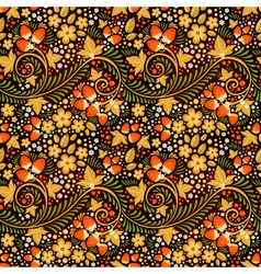 Festive khokhloma seamless pattern vector image vector image