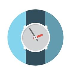 Flat design concept wristwatch with long sha vector