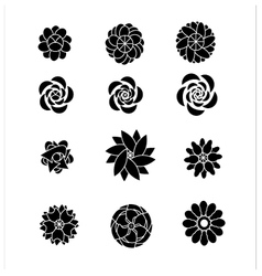 Flower silhouettes shaps vector