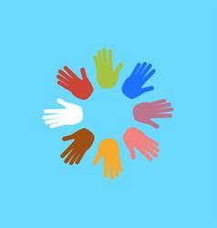 Handshake and friendship icon vector