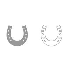Horseshoe it is black icon vector