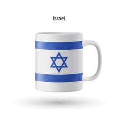Israel flag souvenir mug on white background vector