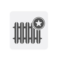 Quality control at home icon with battery sign vector