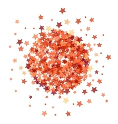 Red star burst isolated vector