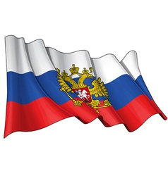 Russia State Flag vector image vector image