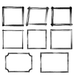 set of watercolor black grunge frames vector image vector image