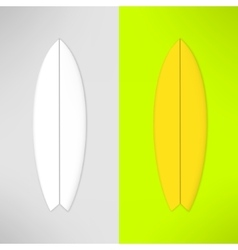 surfboard in realistic design vector image vector image