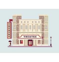 Theater building design flat vector image vector image