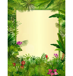 Tropical background floral frame vector