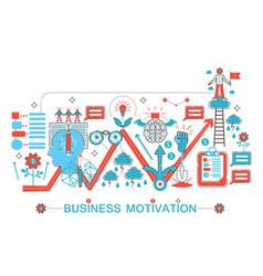 Modern flat thin line design business motivation vector