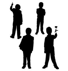 Silhouette of a man in a tuxedo vector image