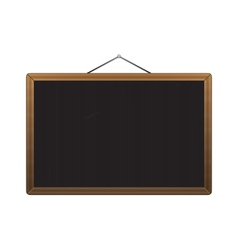 Black chalkboard with brown corners over white vector
