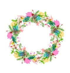 Floral wreath sketch for your design vector image