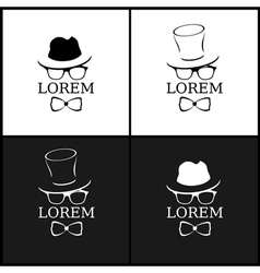 Stylish mens set vector