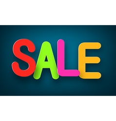 Paper sale colorful sign vector