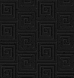 Textured black plastic square spirals vector