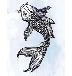 Elegant Koi carp fish vector image