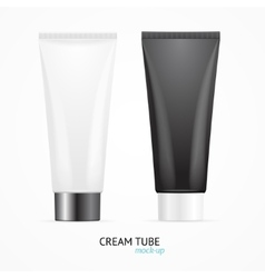 Cream tube mock up set vector