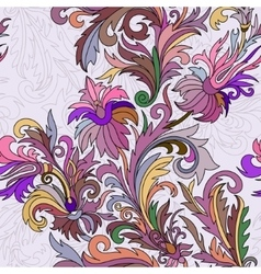 seamless pattern Hand drawn doodle style vector image