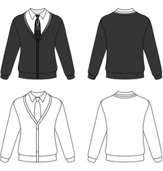 Man cardigan vector