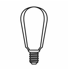 Light bulb icon outline style vector