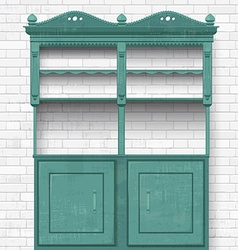 Empty vintage cupboard for your design vector