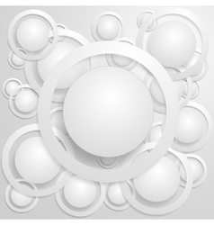 Abstract Circles With Shadows vector image vector image