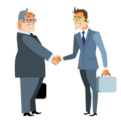 Business handshake deal finance and contract vector