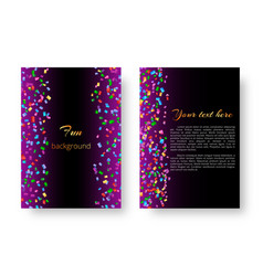 cover brochure with soaring confetti vector image vector image