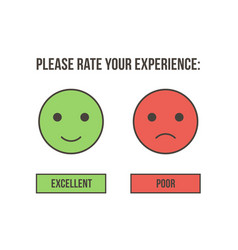 customer service rating vector image vector image