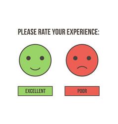 customer service rating vector image