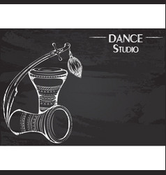 Dance line chalk tribal accessories vector