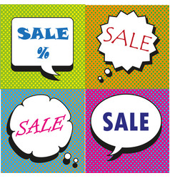 great sale speech bubbles collection vector image vector image