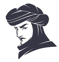 Handsome arabian man vector