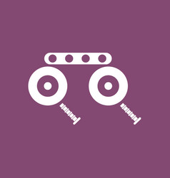 Icon on background kids metal constructor vector
