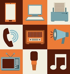 isolated retro icon vector image