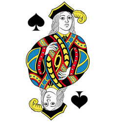 Jack of spades isolated french version vector