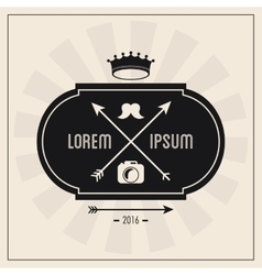 Label icon hipster style design graphic vector