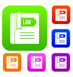law book set collection vector image