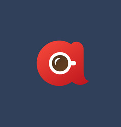 Letter a coffee logo icon design template elements vector