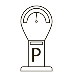 Parking time icon outline style vector image