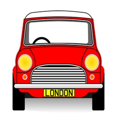Red mini vector image