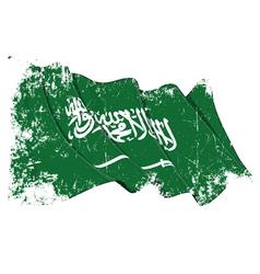 Saudi arabia flag grunge vector