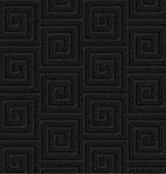 Textured black plastic square spirals vector image vector image